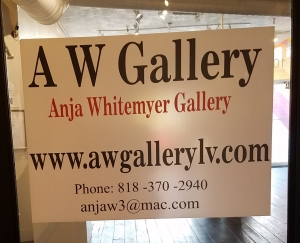 AW Gallery sign