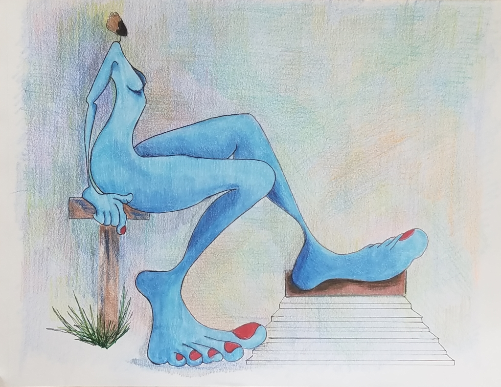 TODAY SHE'S BLUE (11X14) $85